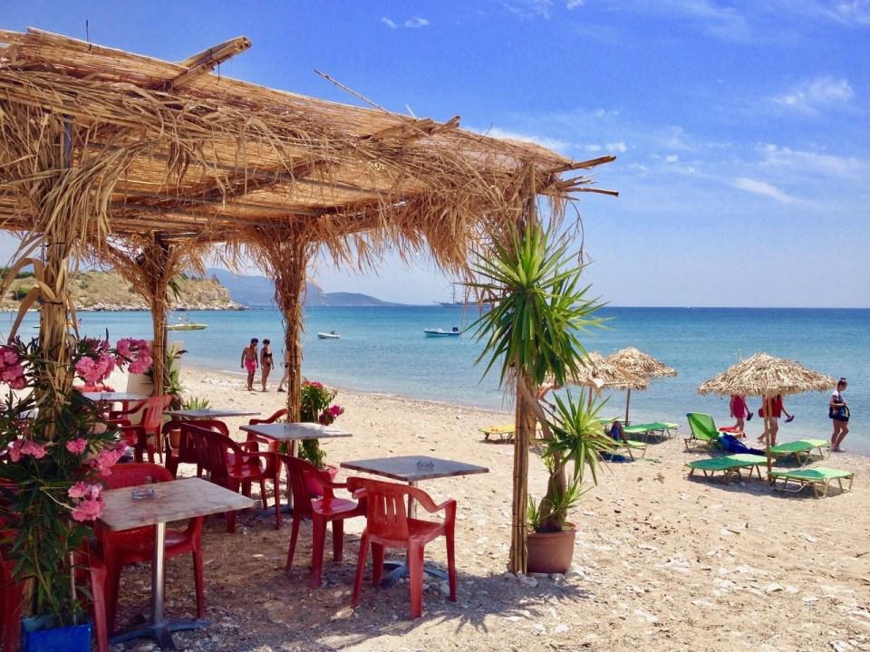 Strandbar på Samos