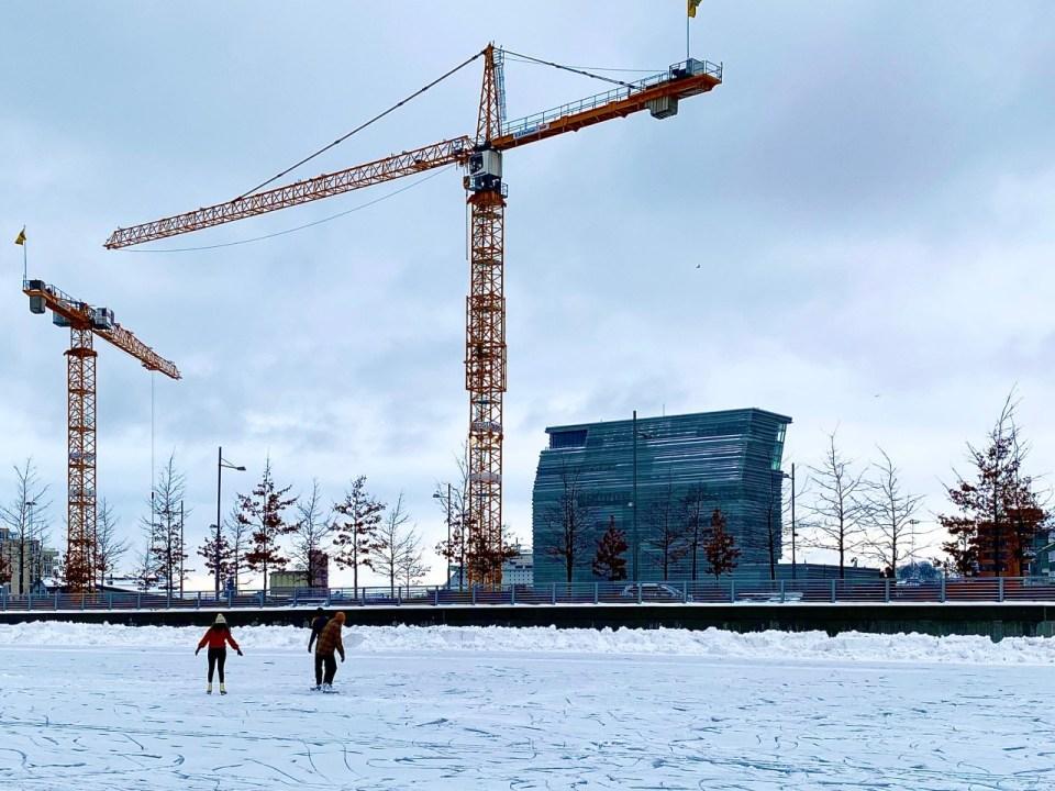 Skøyteis i Oslo Munchmuseet