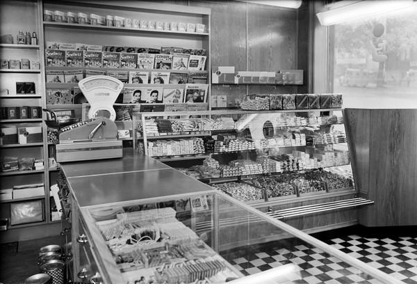 Kioskinteriør fra 50-tallet
