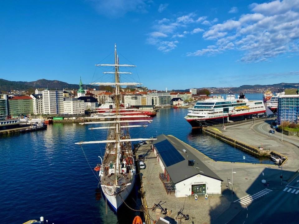 Utsikt fra tårnet hotell Havnekontoret