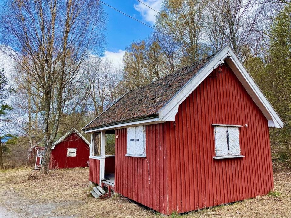 Gamle røde hytter på Ekebergsletta