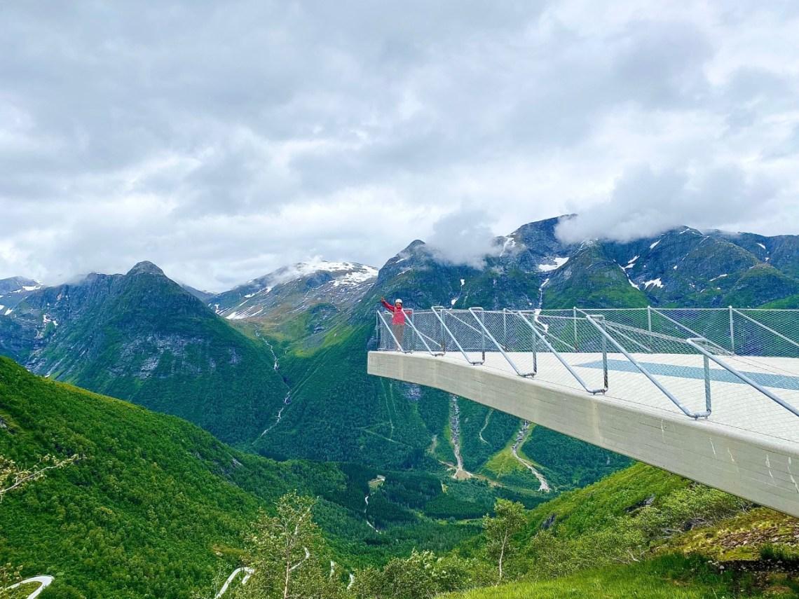Utsikten på Gaularfjellet