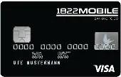 Visa Kreditkarte der 1822MOBIL