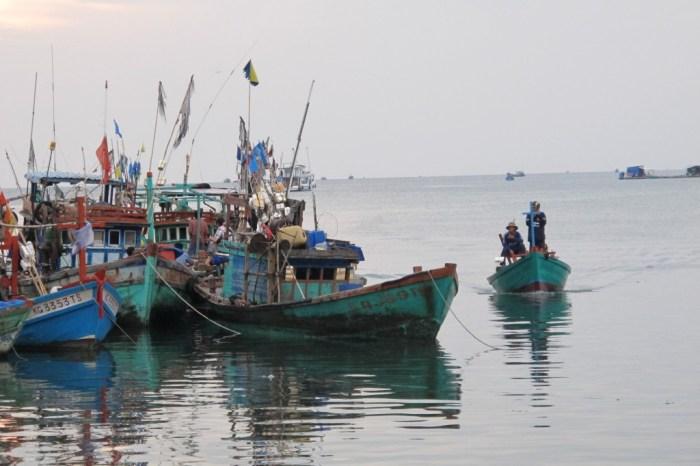 Fiskebåter på Phu Quoc, Vietnam