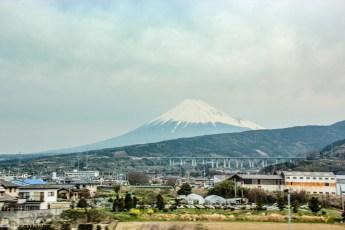 Mount Fuji sett fra toget