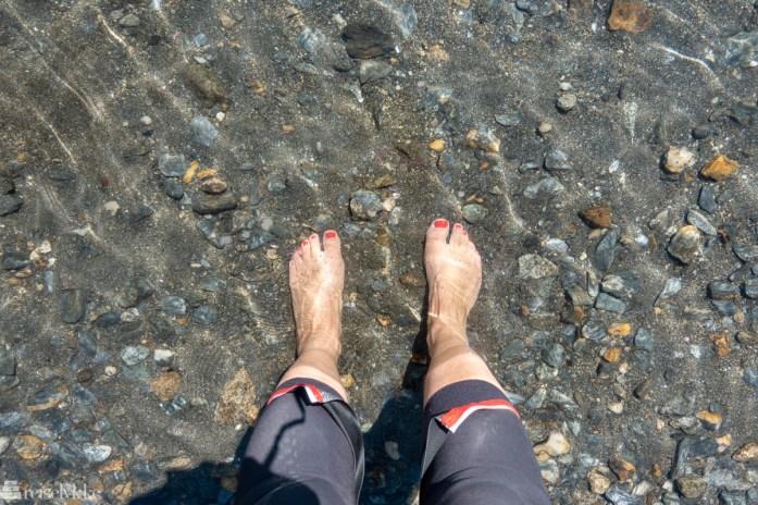 Avkjølende fotbad langs Rallarvegen