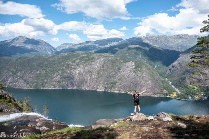 Topptur i Norge, ved Åkerfjorden og Langfoss