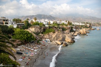 Playa del Chorrillo i Nerja