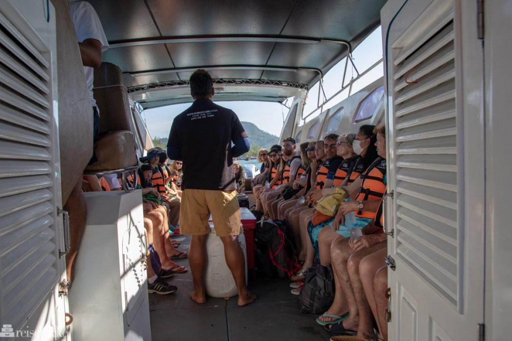 På gruppetur i speedbåt