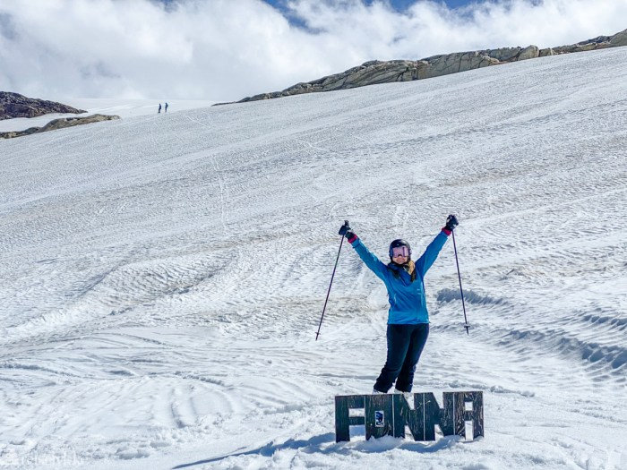 Reiselykke på ski om sommeren
