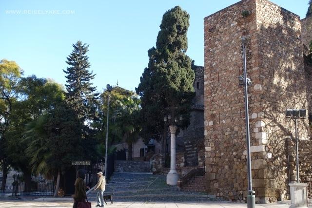 Málaga gamleby, Alcazaba fort