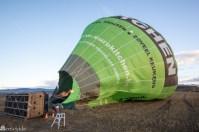 I luftballong over La Rioja