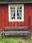 Benk ved Eidsfoss hovedgård