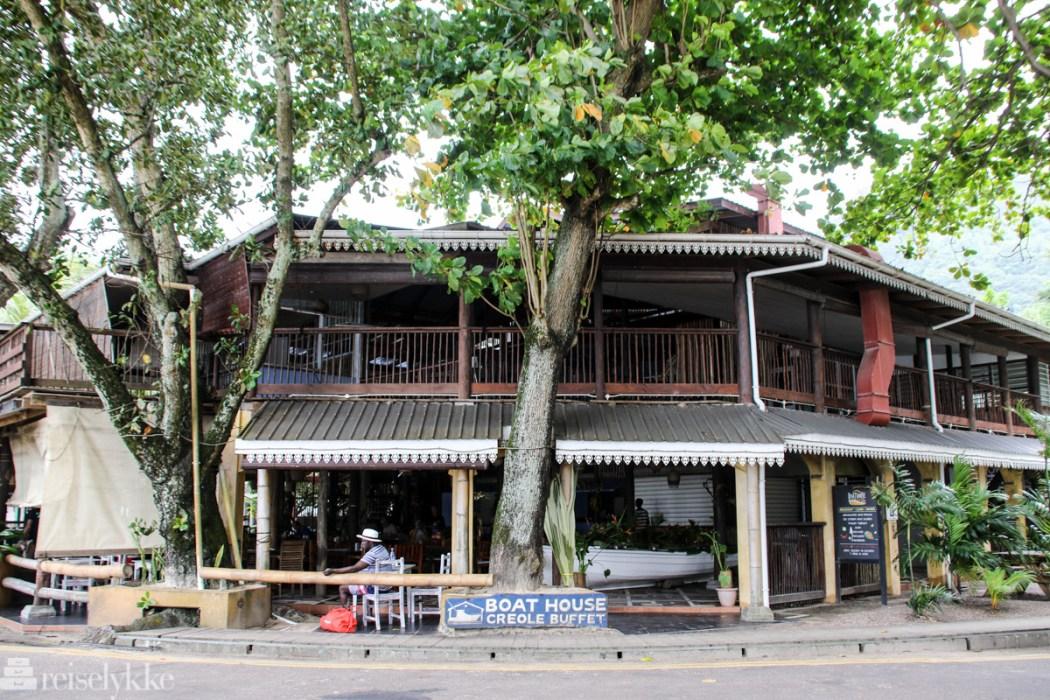 Boathouse i Beau Vallon, Mahé, Seychellene