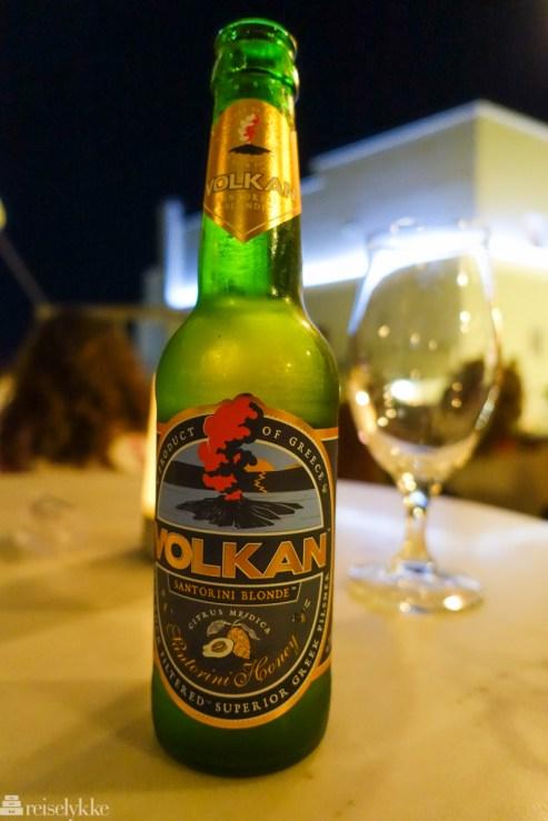 Lokalt øl Santorini