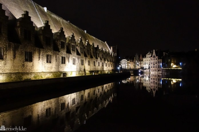 Flandern: Ghent by night