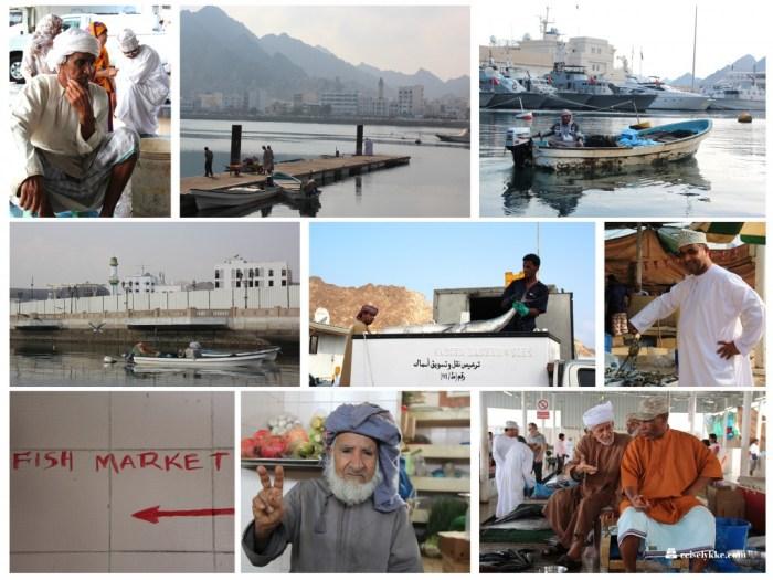Fiskemarkedet i Mutrah Souk, Muskat, Oman
