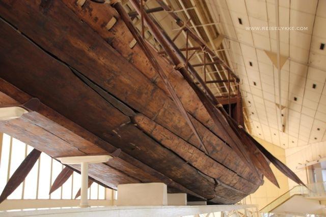 Det ekte Khufu Solar skipet rekonstruert Foto: Mette S. Fjeldheim