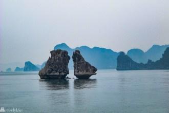 Vietnam: Fighting Cocks Island i Halong Bay
