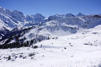 Nydelig skiområde ved Mürren