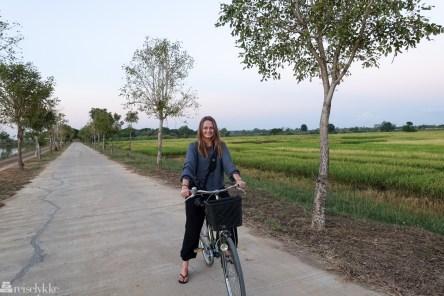 På sykkeltur i Sukhothai