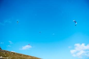 Paraglidere ved Prestholt