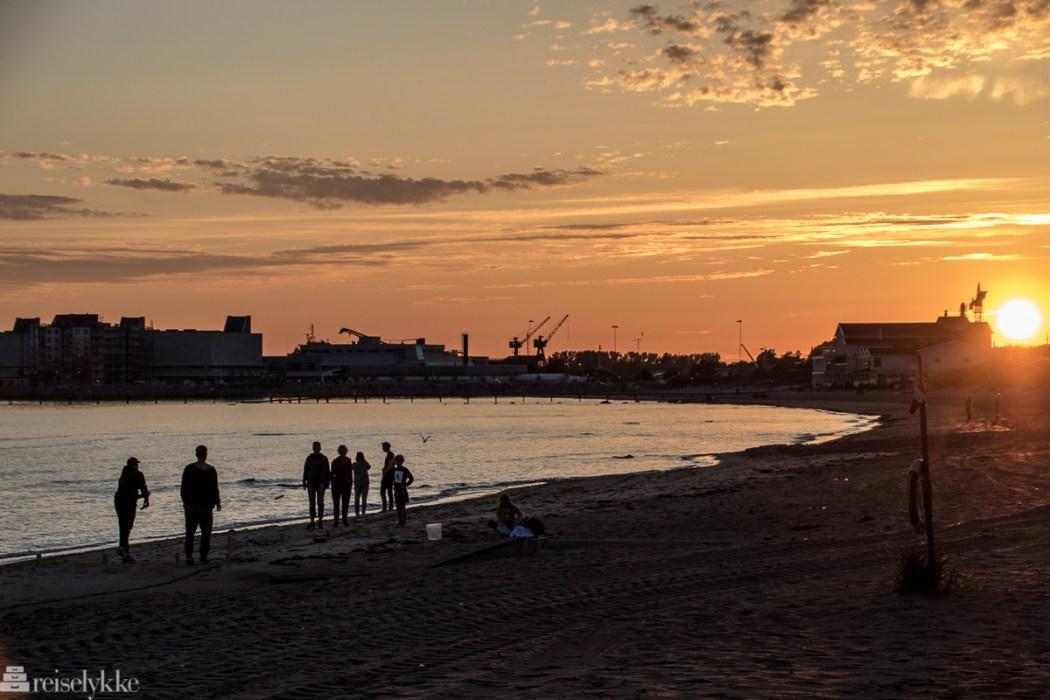 Solnedgang ved Oceans Hotel Falkenberg