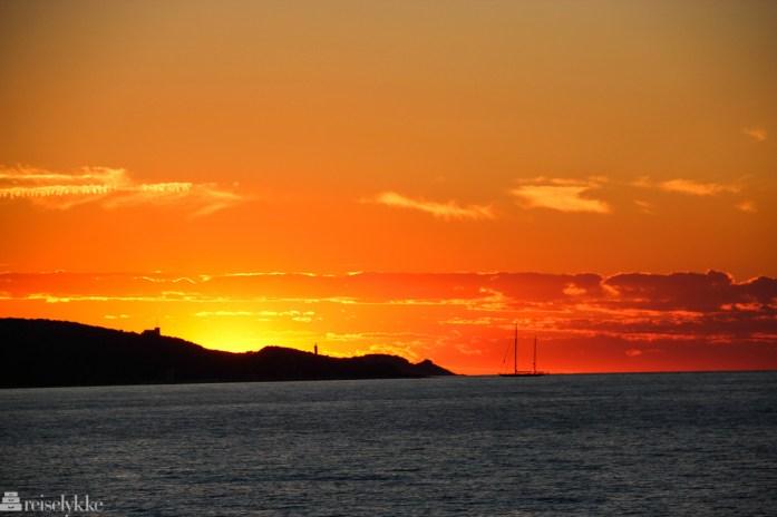 Solnedgang ved Saint Florent, Korsika