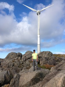 Stik ved vindmøllene på Utsira Foto: Utsira Reiseliv