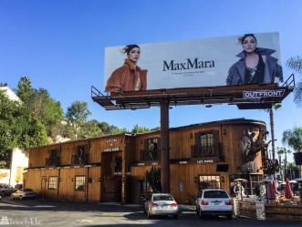 Reklame plakat langs Sunset Strip