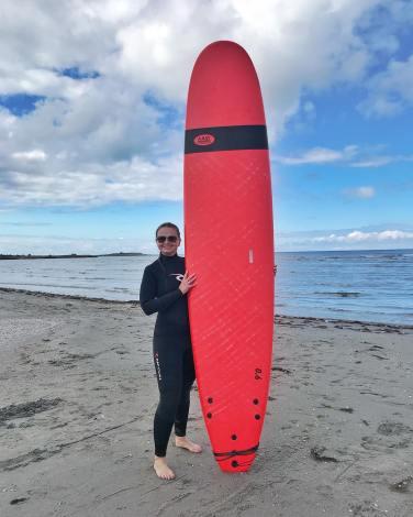 Tester surfing i Varberg
