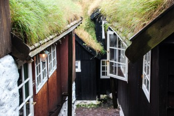 Tjæremalte hus i Gamle Tórshavn