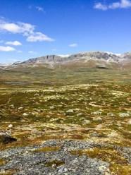 Utsikt fra Rukehovda mot Hallingskarvet