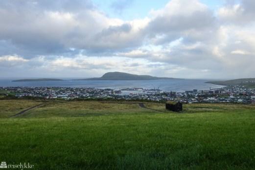 Utsikt mot Tórshavn fra Hotel Føroyar_
