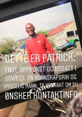 Vår guide Patrick i Soweto