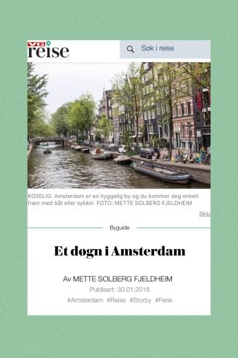 VG artikkel Amsterdam