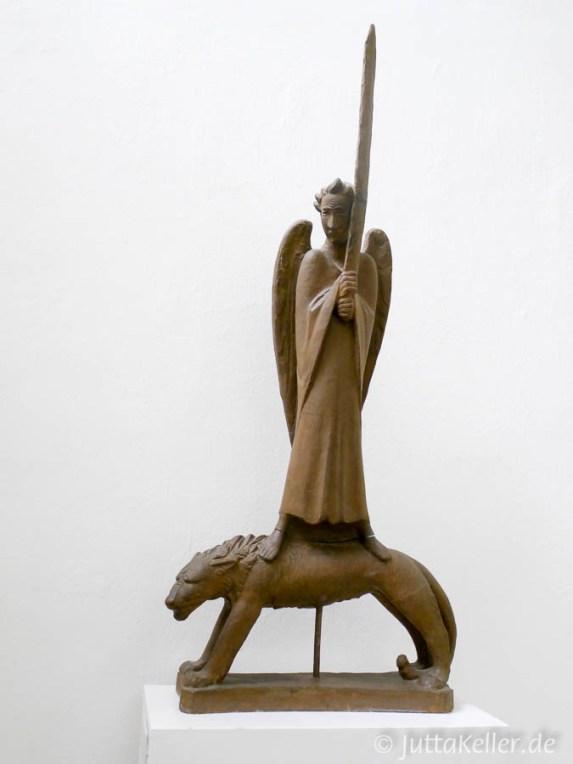 Ernst Barlach: Der Geistkämpfer, im Atelierhaus am Inselsee