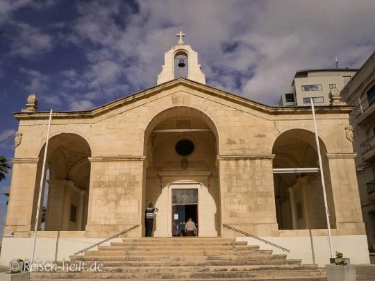 St. Paul's Chapel in der St. Paul's Bay, unser erster Gottesdienst auf Malta.