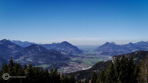 Blick vom Weinbergerhaus (1.272 m) ins Inntal