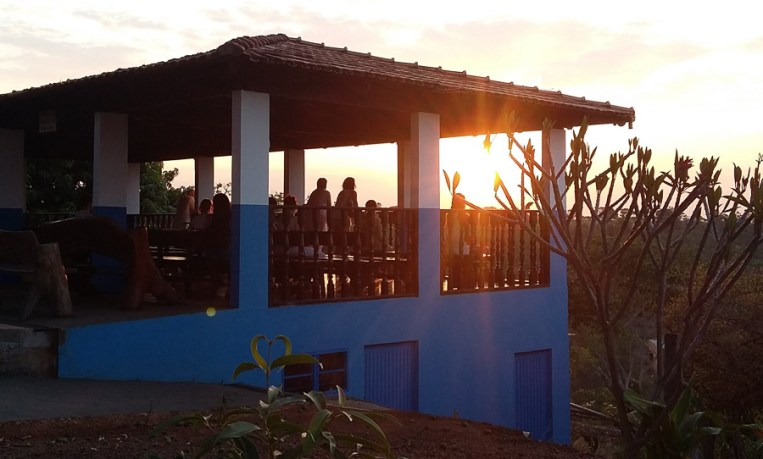 Sonnenuntergang am Aussichtspunkt der Casa de Dom Inacio de Loyola. Foto: Nicole Gundermann