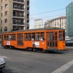 Schicke alte Straßenbahn