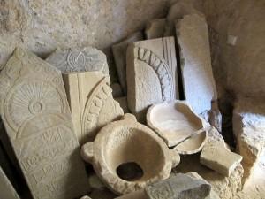 Arabische Grabsteine in der Festung Rethymno