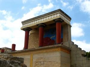 Berühmtes Stierfresko in Knossos