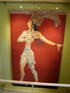 Der Lilienprinz, Fresko aus Knossos