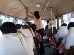 Durch Lima im Bus
