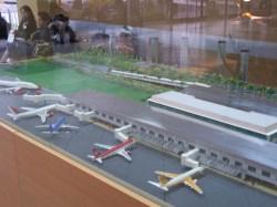 Modell des Flughafens in Quito