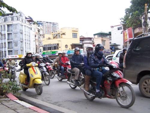 Motorräder in Hanoi