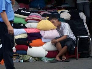 Kissenhändler in Cholon