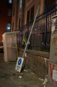 Es ist nicht alles perfekt: Fußgängerzonenschild in der Altstadt