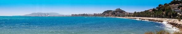 Panorama vom Strand Málagas